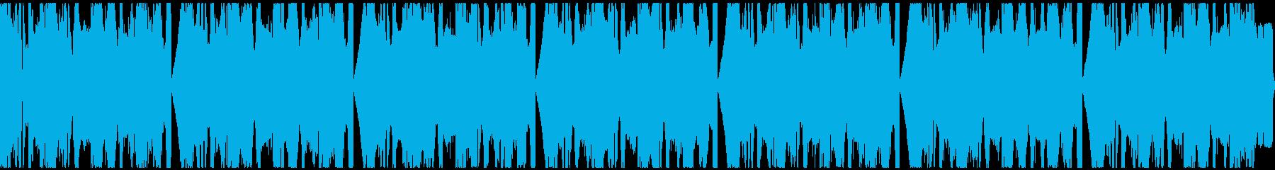ヘヴィーなギターとEDM【ループ】の再生済みの波形