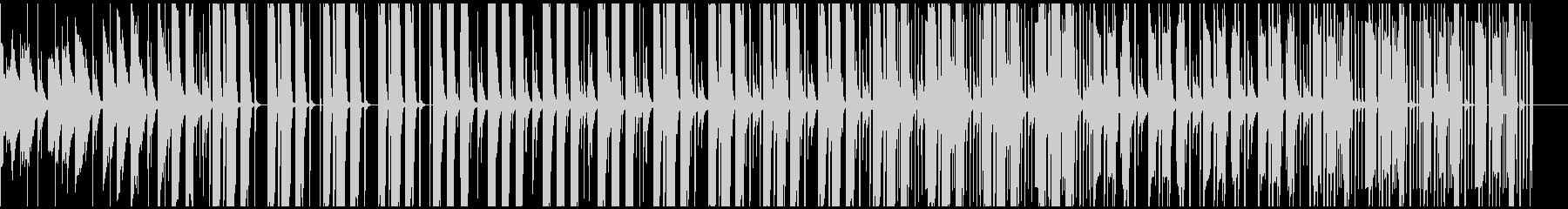心地よいピアノとベースが特徴的なトラップの未再生の波形