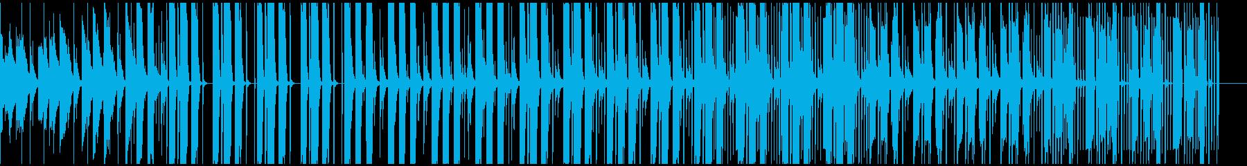 心地よいピアノとベースが特徴的なトラップの再生済みの波形