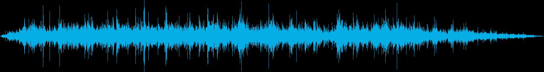 森の中の水車の音の再生済みの波形