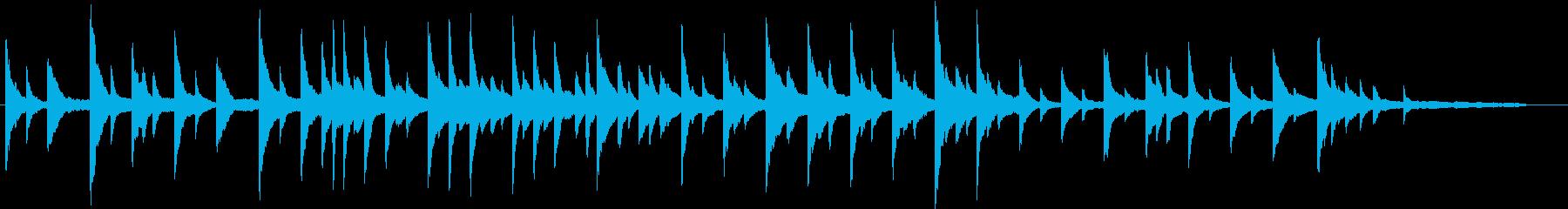 儚げなピアノバラードの再生済みの波形