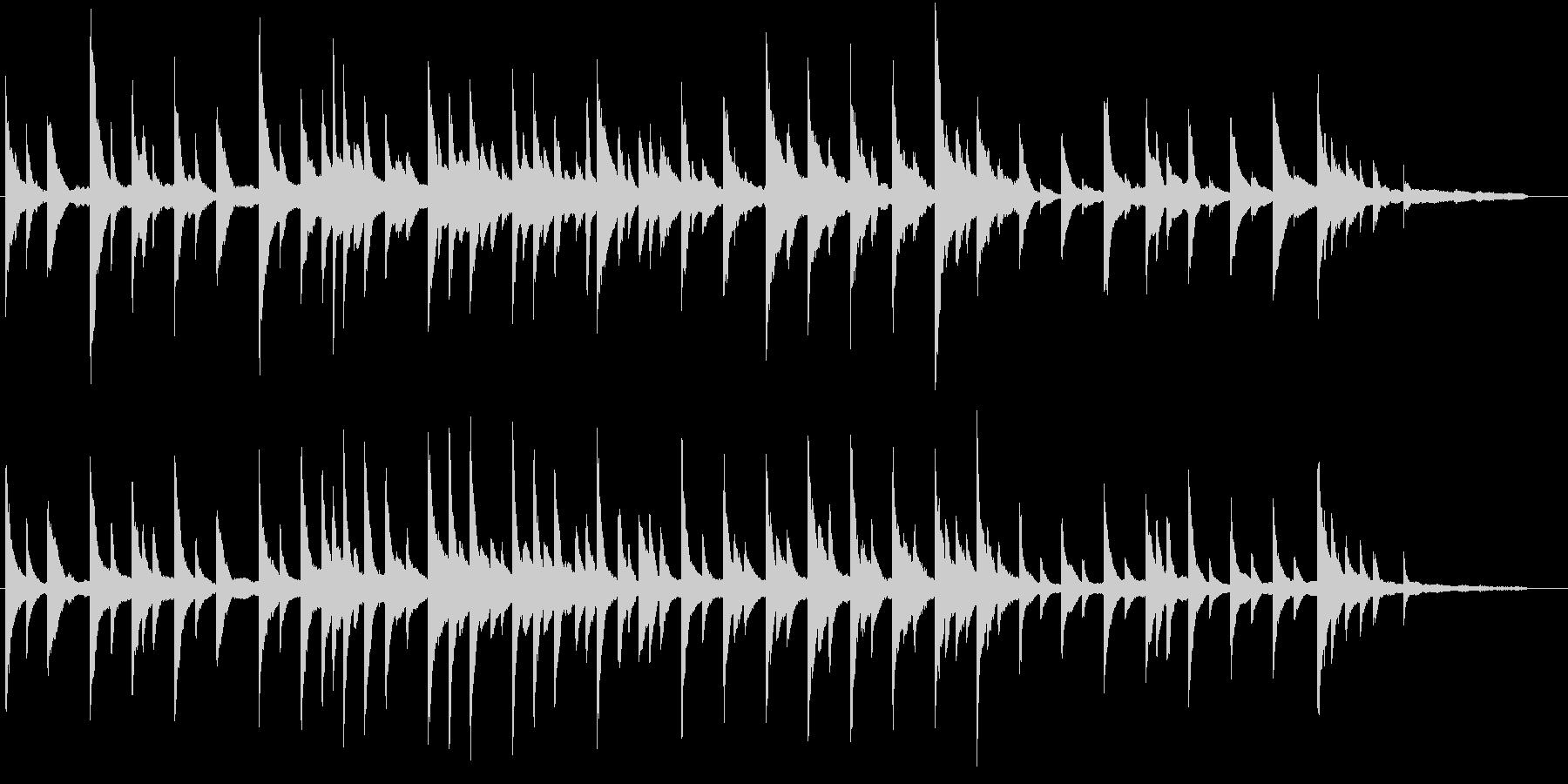 儚げなピアノバラードの未再生の波形