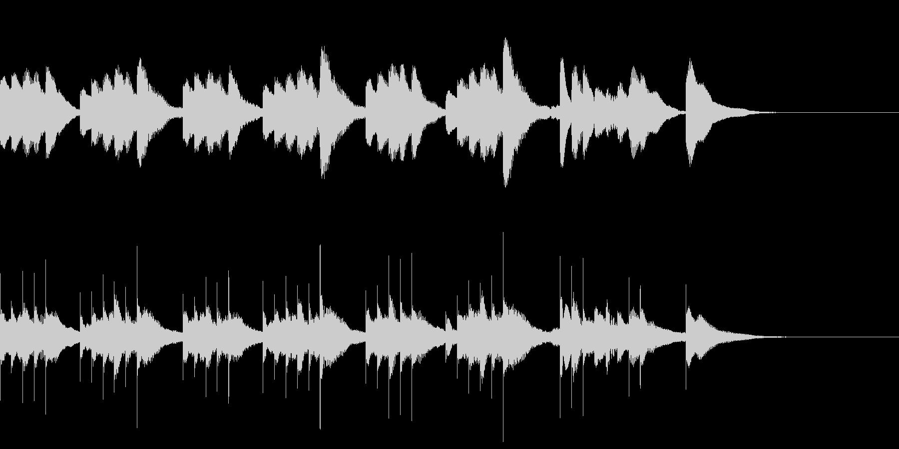 マリンバとグロッケンのジングル4の未再生の波形