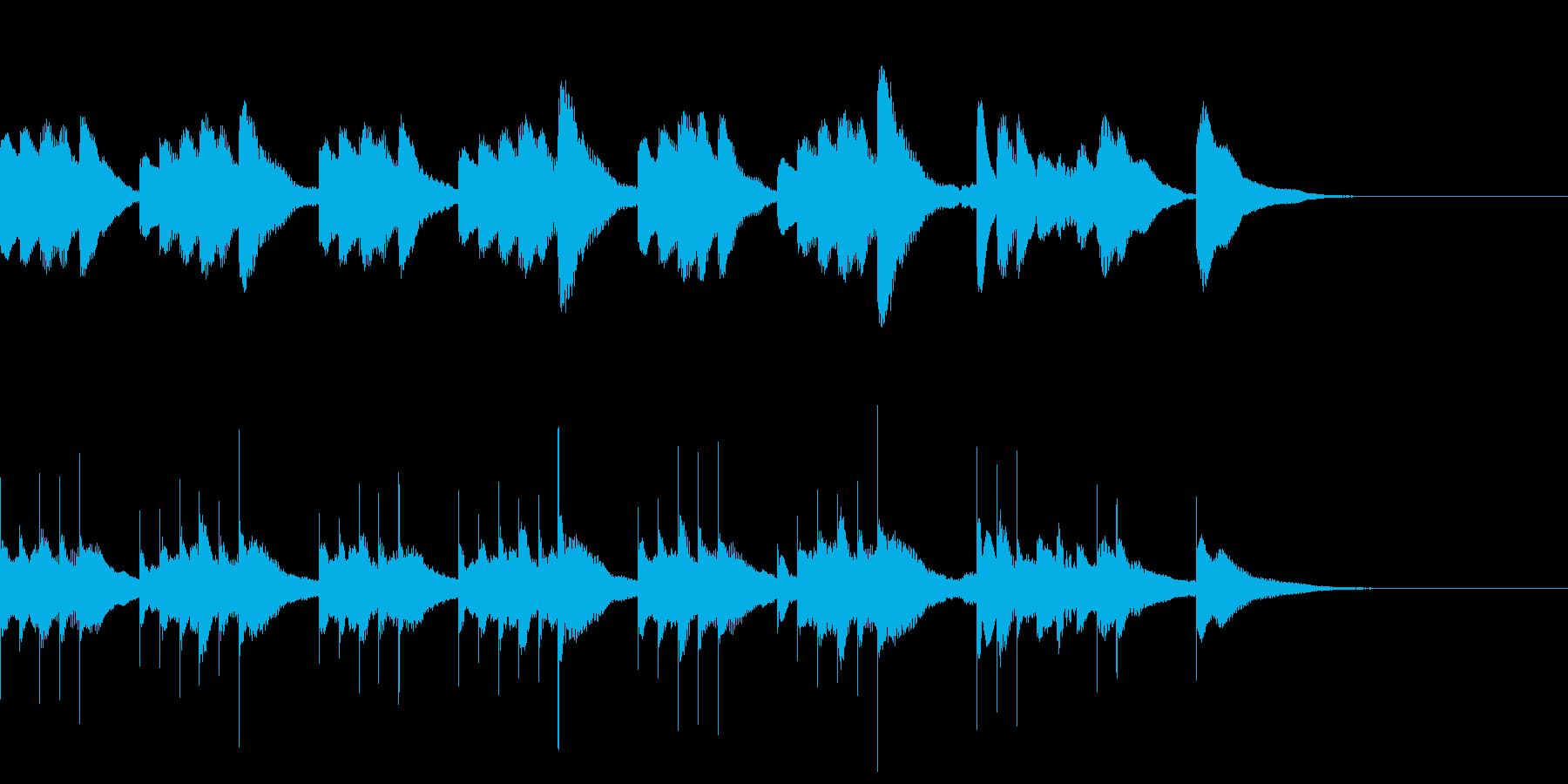 マリンバとグロッケンのジングル4の再生済みの波形