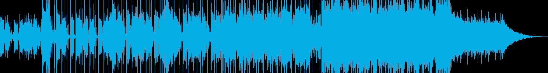 しんみりした雰囲気から感動的になる曲の再生済みの波形