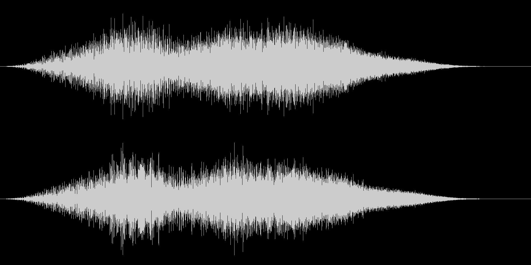 宇宙船エイリアンUFOの離陸の未再生の波形