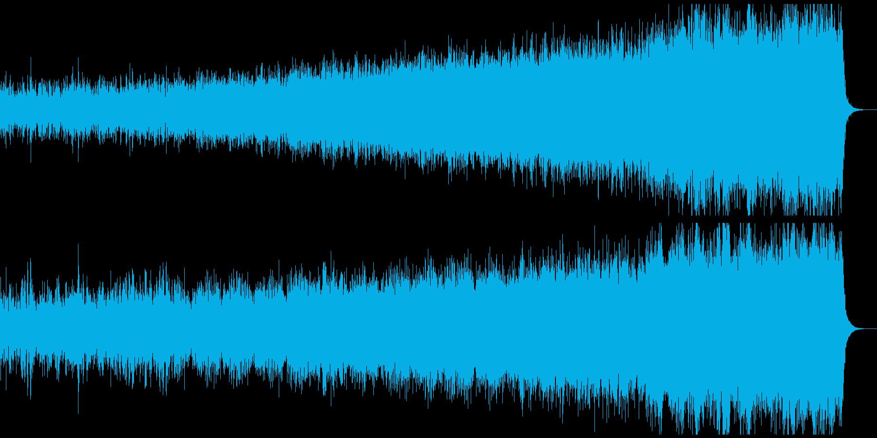 幻想的で壮大なオーケストラアンビエントの再生済みの波形