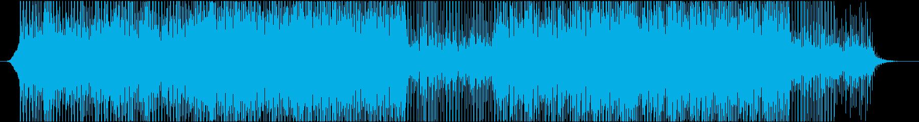 企業VPに最適な落ち着いて前向きなBGMの再生済みの波形