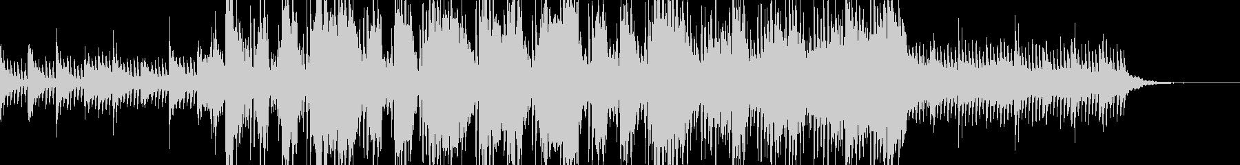 神秘的で最先端のBGMの未再生の波形