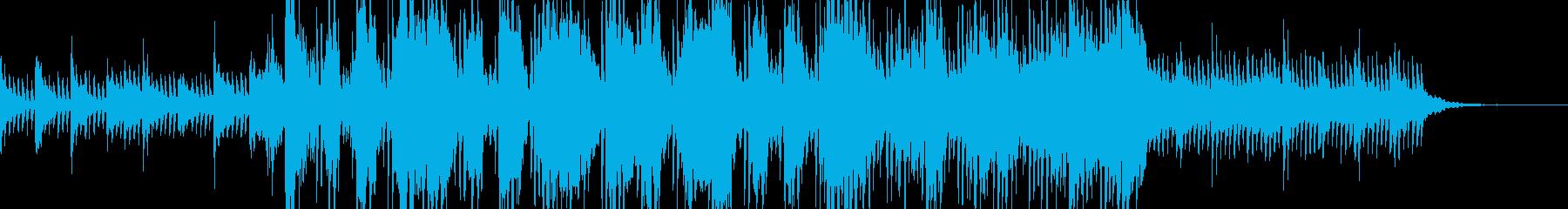 神秘的で最先端のBGMの再生済みの波形
