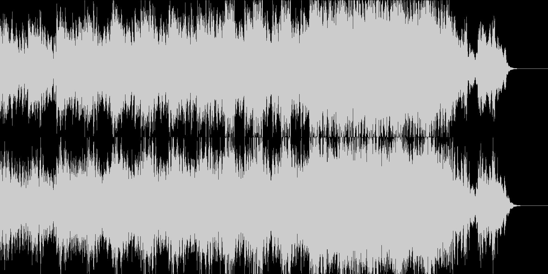 ハリウッドSF映画イメージのインストの未再生の波形