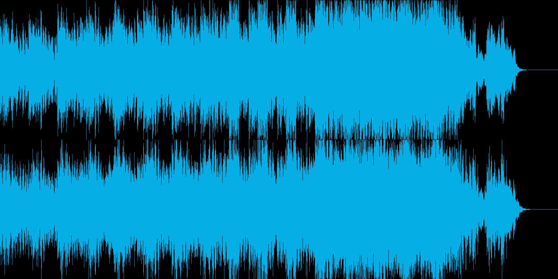 ハリウッドSF映画イメージのインストの再生済みの波形