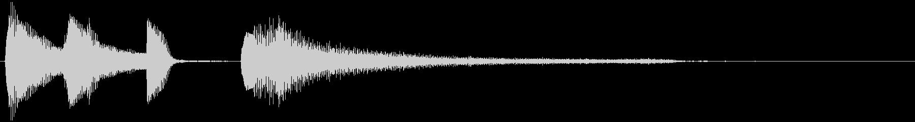 短いピアノサウンドロゴ_エンディングの未再生の波形