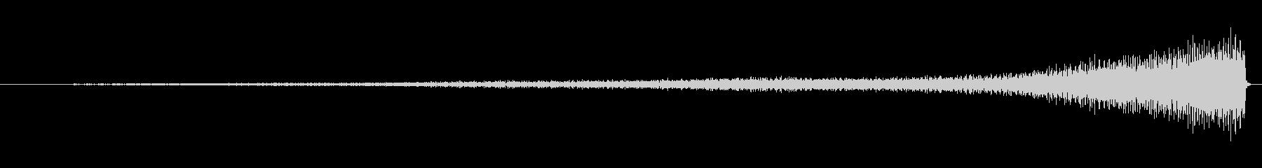 ピアノのワンショット効果音08-リバースの未再生の波形