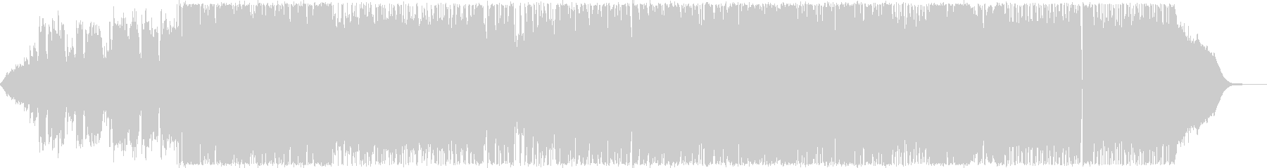 エレキとアコギによるギターロックバラードの未再生の波形