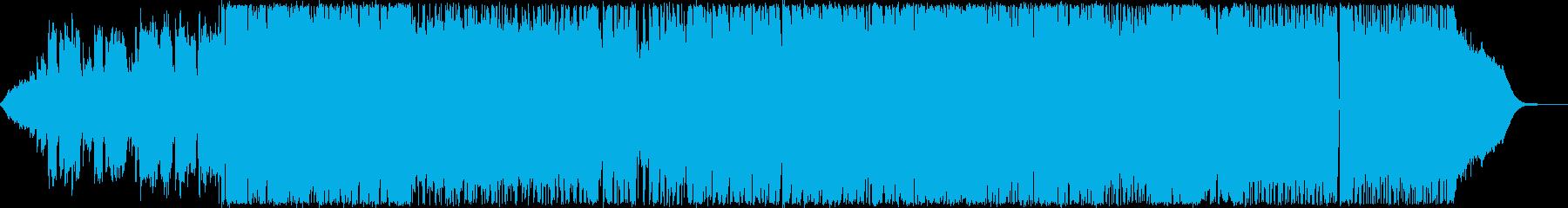 エレキとアコギによるギターロックバラードの再生済みの波形