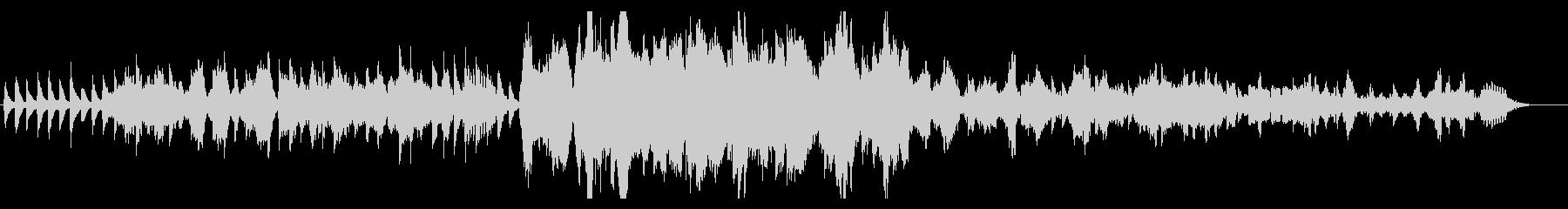 桜舞う切ないピアノとチェロのインストの未再生の波形