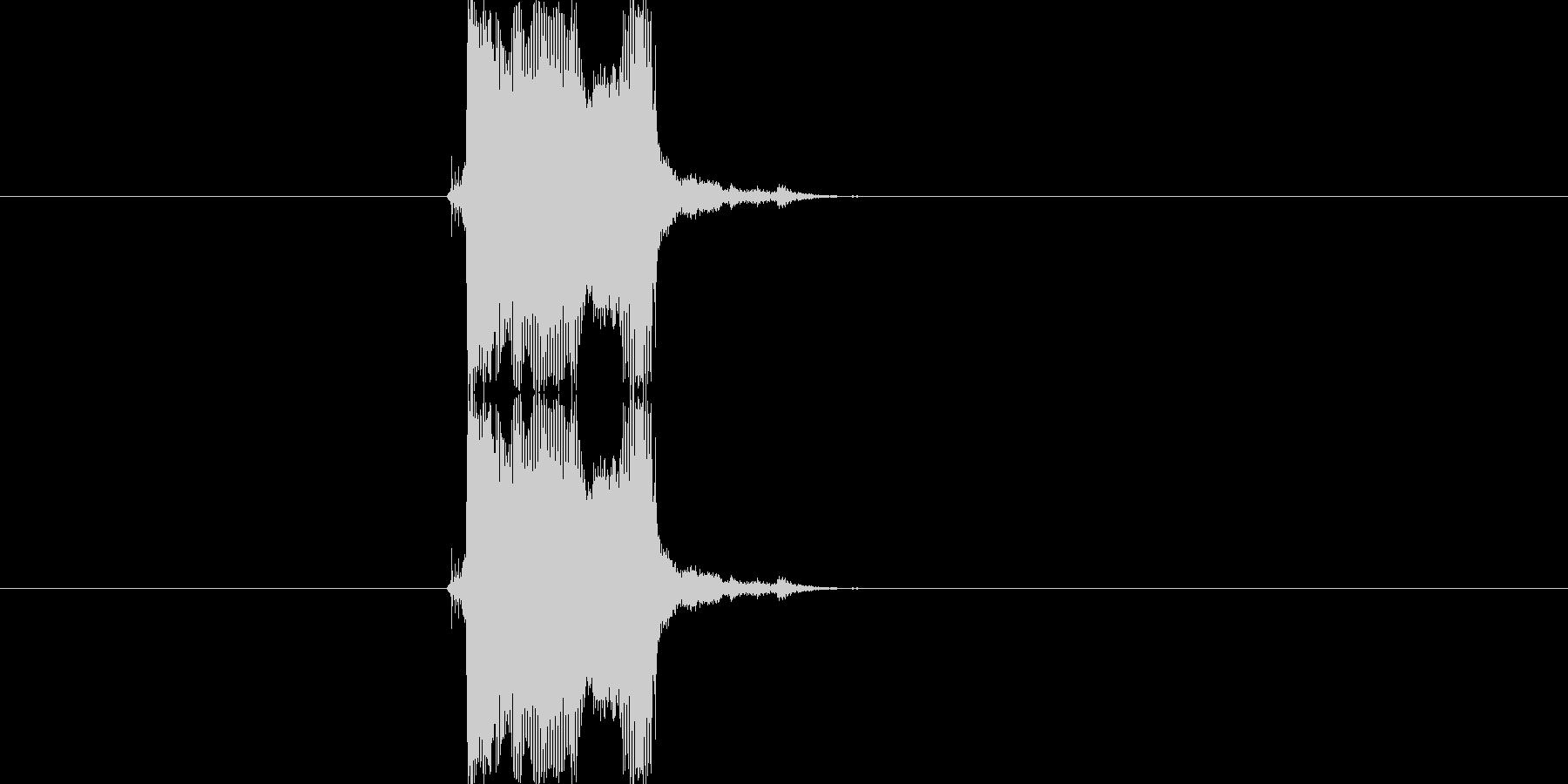 【生音】【ビーー!】原付のクラクションの未再生の波形