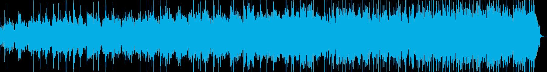 民謡で暖かい曲の再生済みの波形