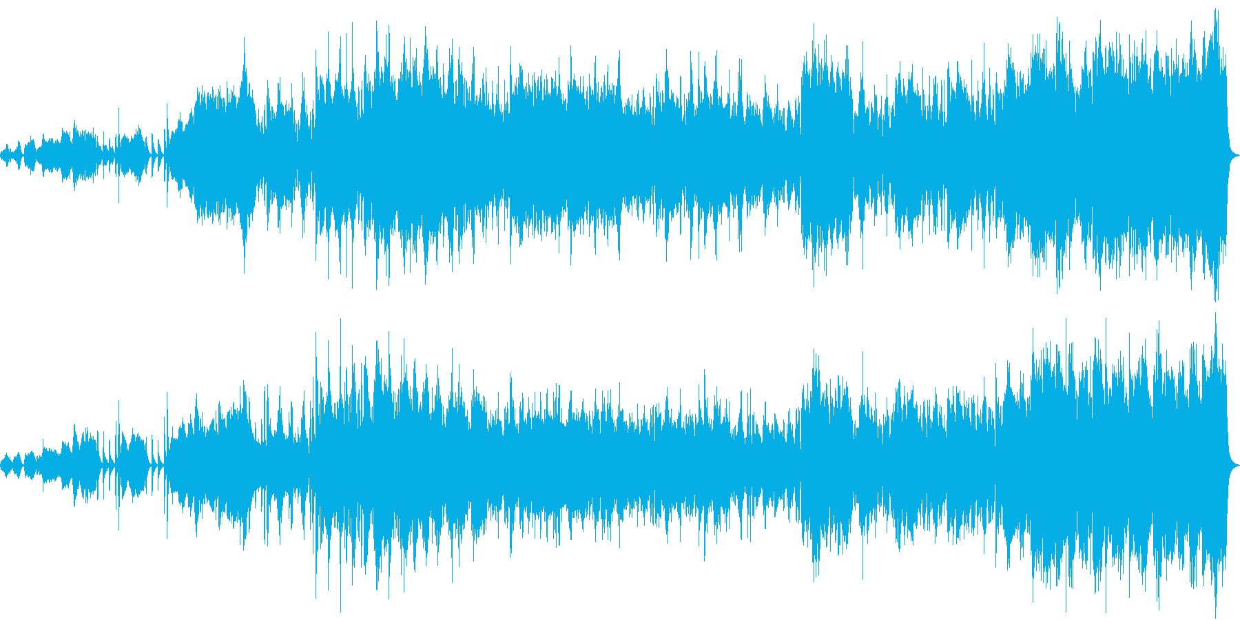 暗い曲想から明るい曲想に展開しています。の再生済みの波形