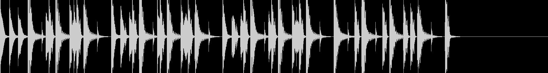 木のハンマーのような音を使ったジングルの未再生の波形