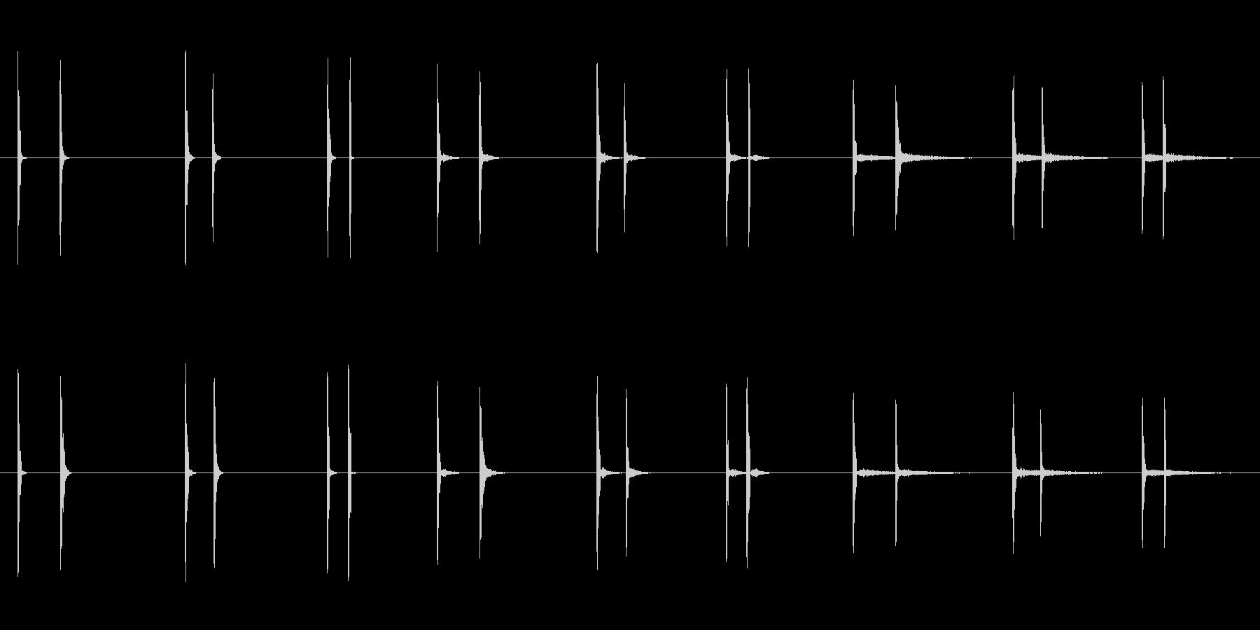 トグルボタン、3バージョンX 3ル...の未再生の波形