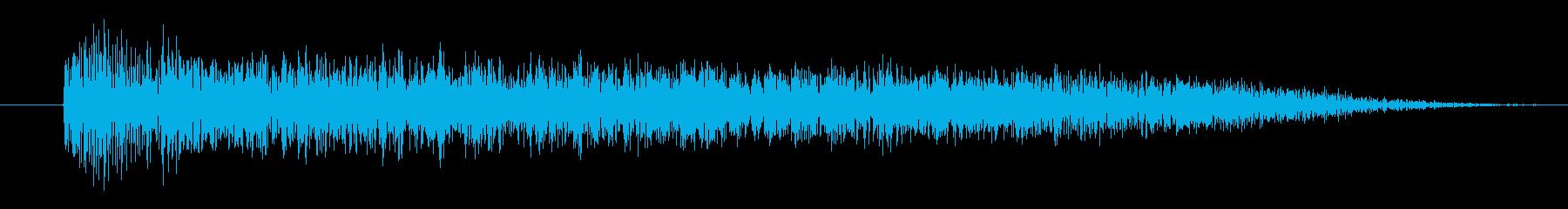 シャキ(引っ掻き)の再生済みの波形