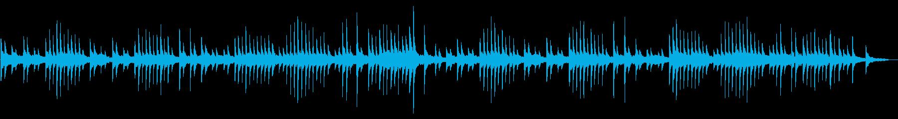 サティの名曲をレトロなフェルトピアノでの再生済みの波形