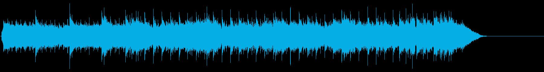 パワフルなギターロックの再生済みの波形