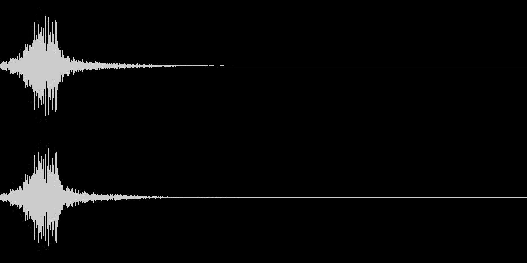 シュクゥォの未再生の波形