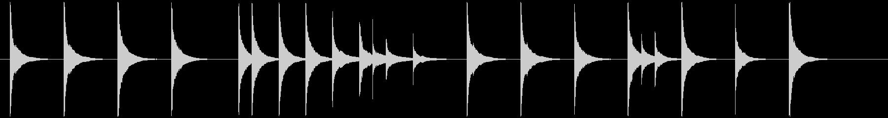グロッケンのシンプルなジングルの未再生の波形