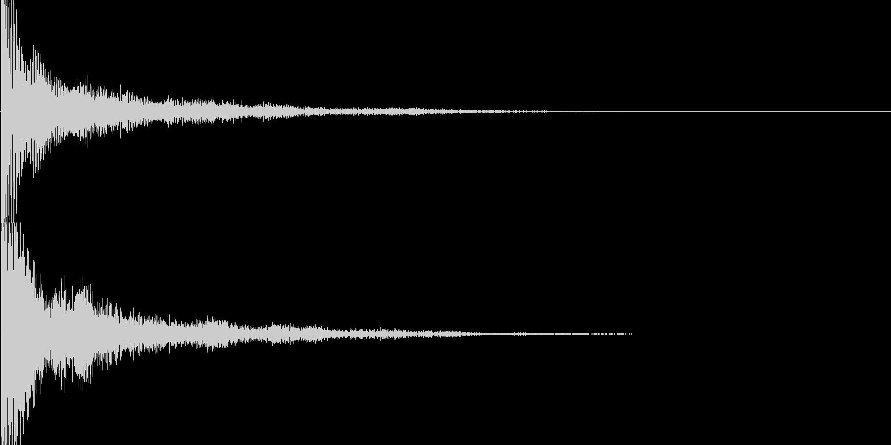 和風クリックスタート音の未再生の波形