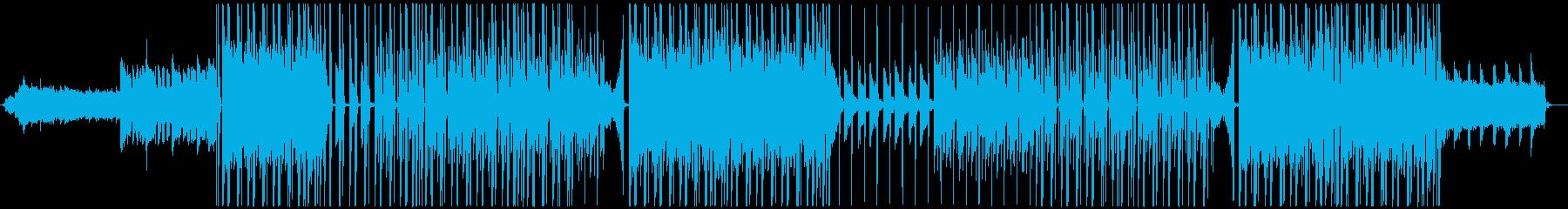 ポップでチルなオシャレ系BGMの再生済みの波形