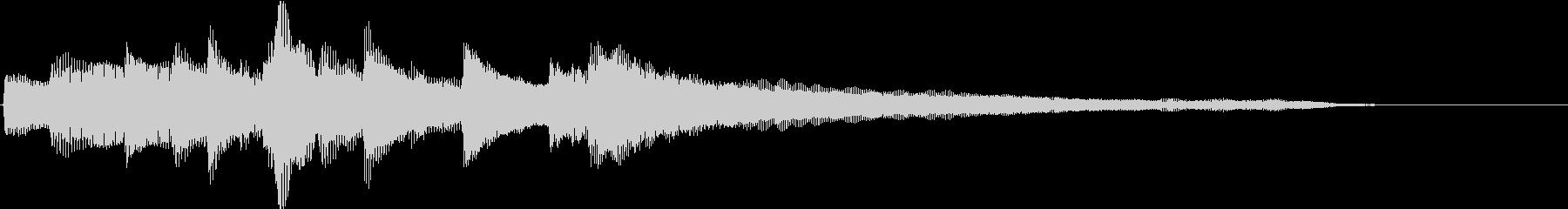 CMや映像に 温かいピアノジングル 5の未再生の波形