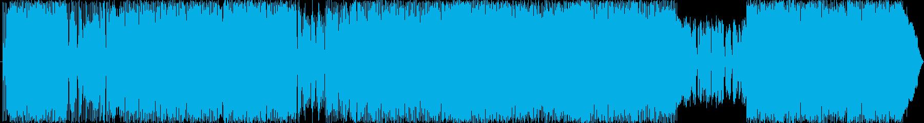 辛いとき背中を押すようなポップロック楽曲の再生済みの波形