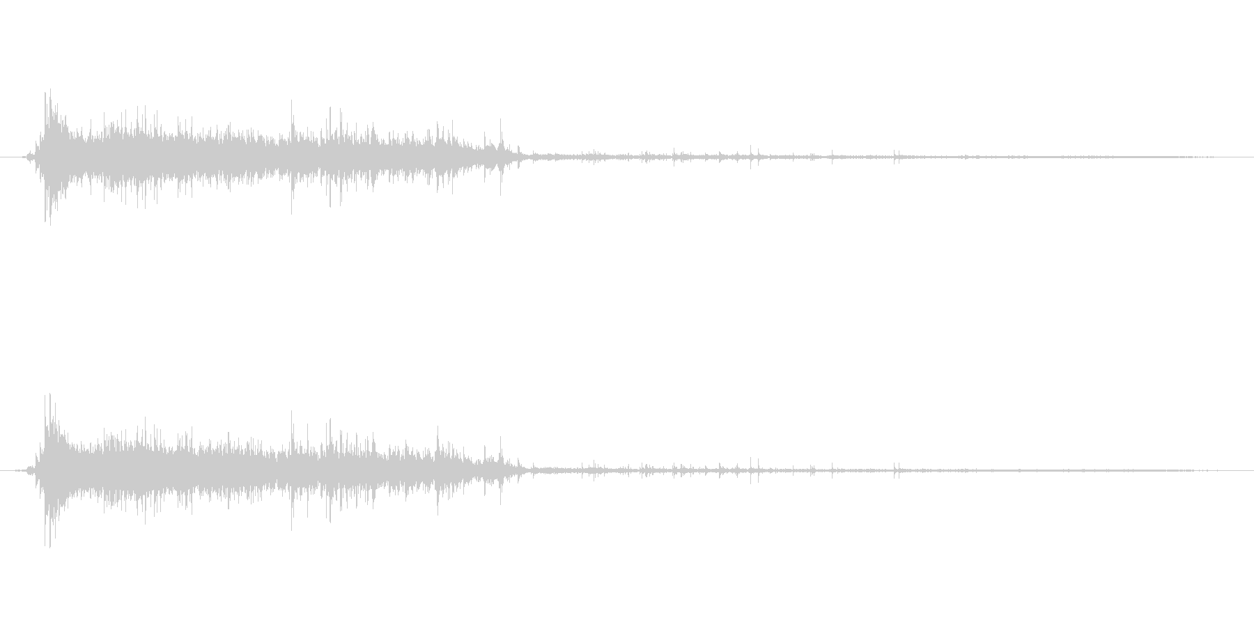 水 トイレフラッシュロング01の未再生の波形