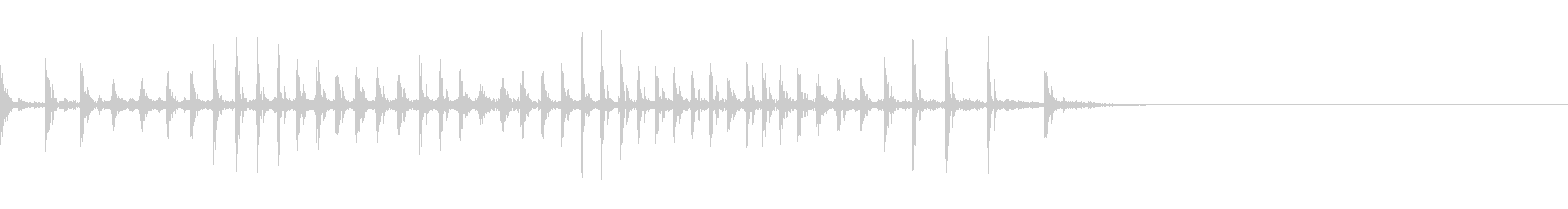 [生録音]魚釣り、リールを巻く07の未再生の波形