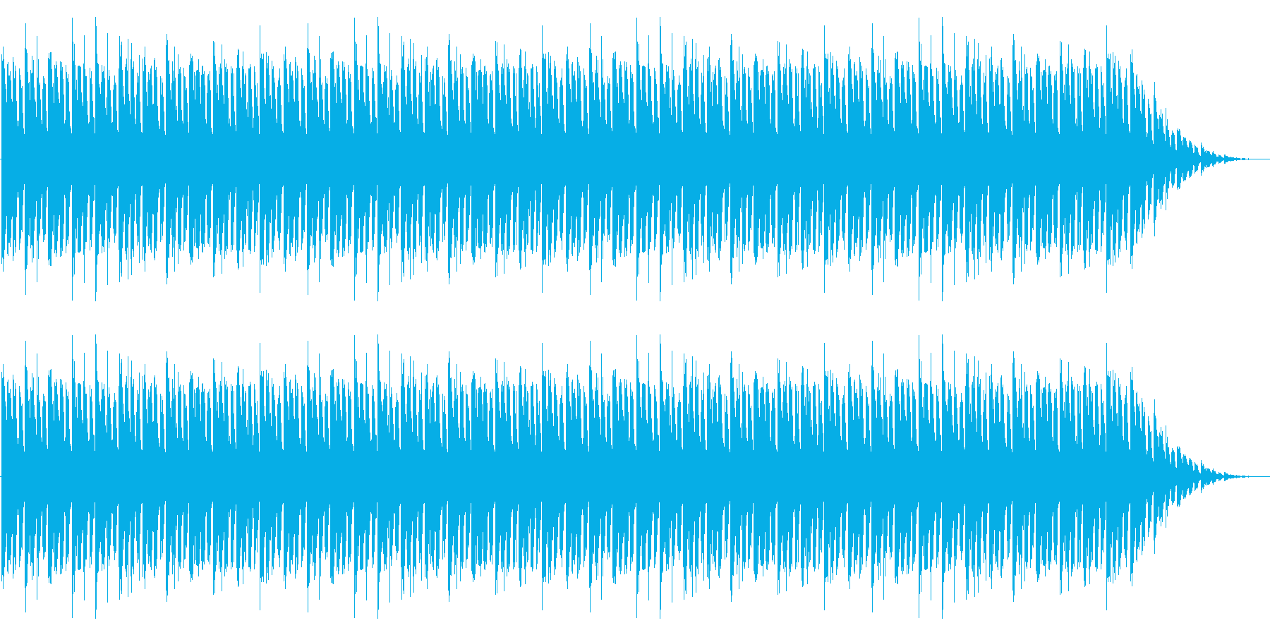GB風シューティングのタイトル曲の再生済みの波形