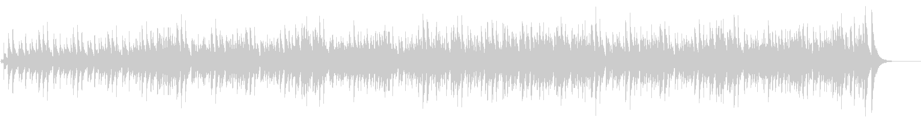 スチールドラムによるカリビアンなポップ曲の未再生の波形