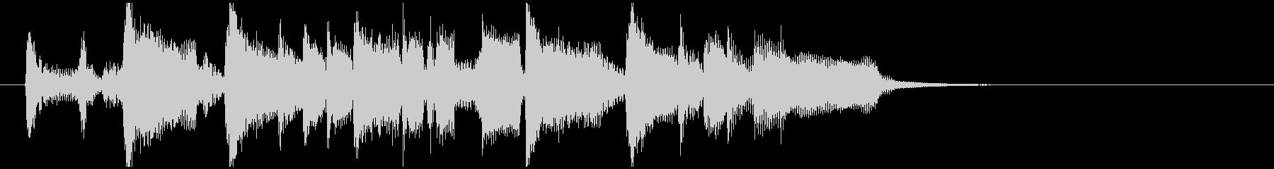 ファンキーなサックスのサウンドロゴの未再生の波形