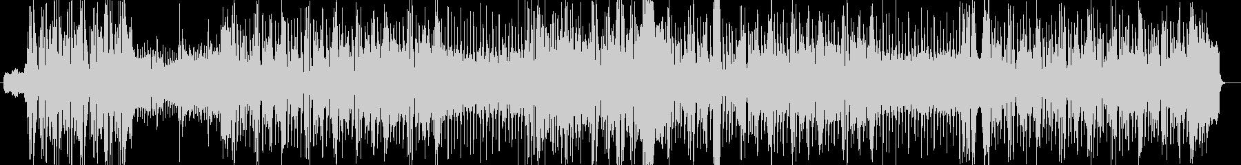 勢いのあるシンセ・ギターなどのサウンドの未再生の波形