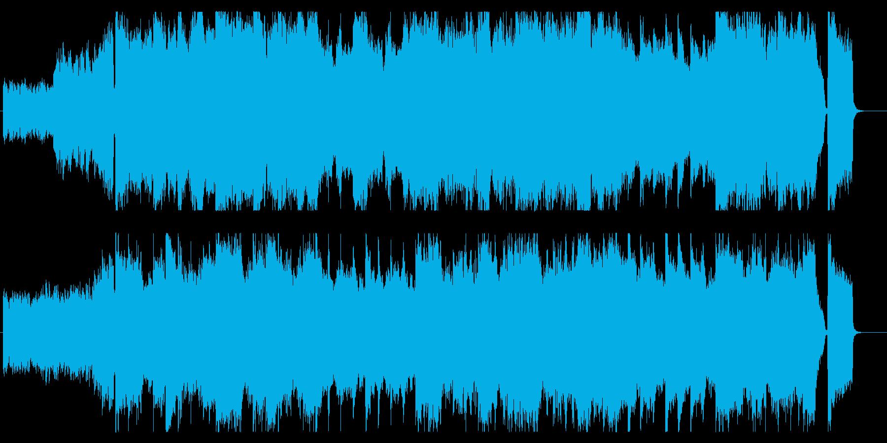 ギターとストリングスのバラードの再生済みの波形