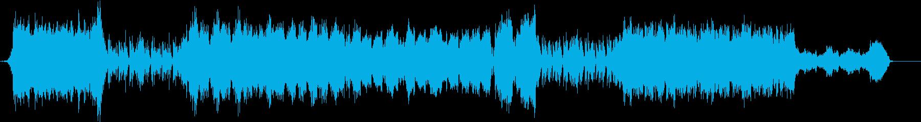 力強い曲の再生済みの波形