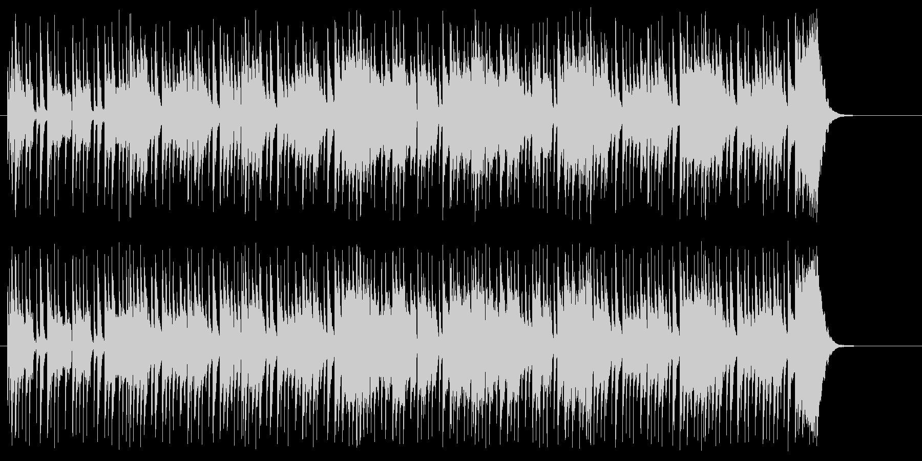 戯れのエレクトリック・ポップスの未再生の波形