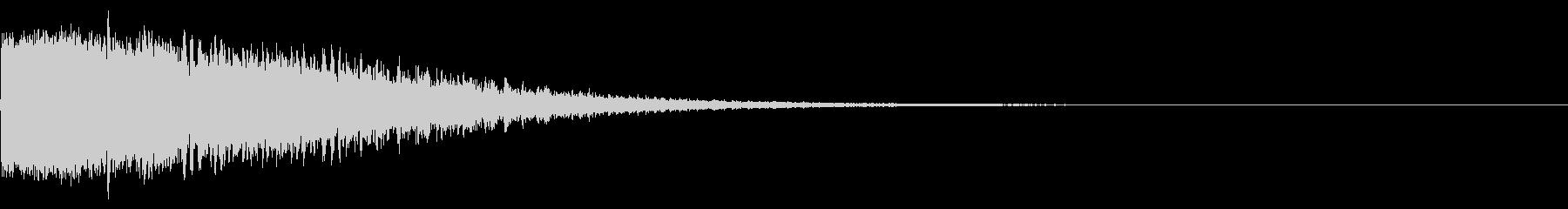 ダメージ音01(魔法・電子系)の未再生の波形