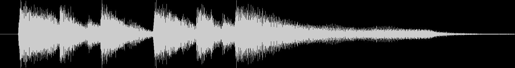 おしゃれなピアノジングルです。の未再生の波形