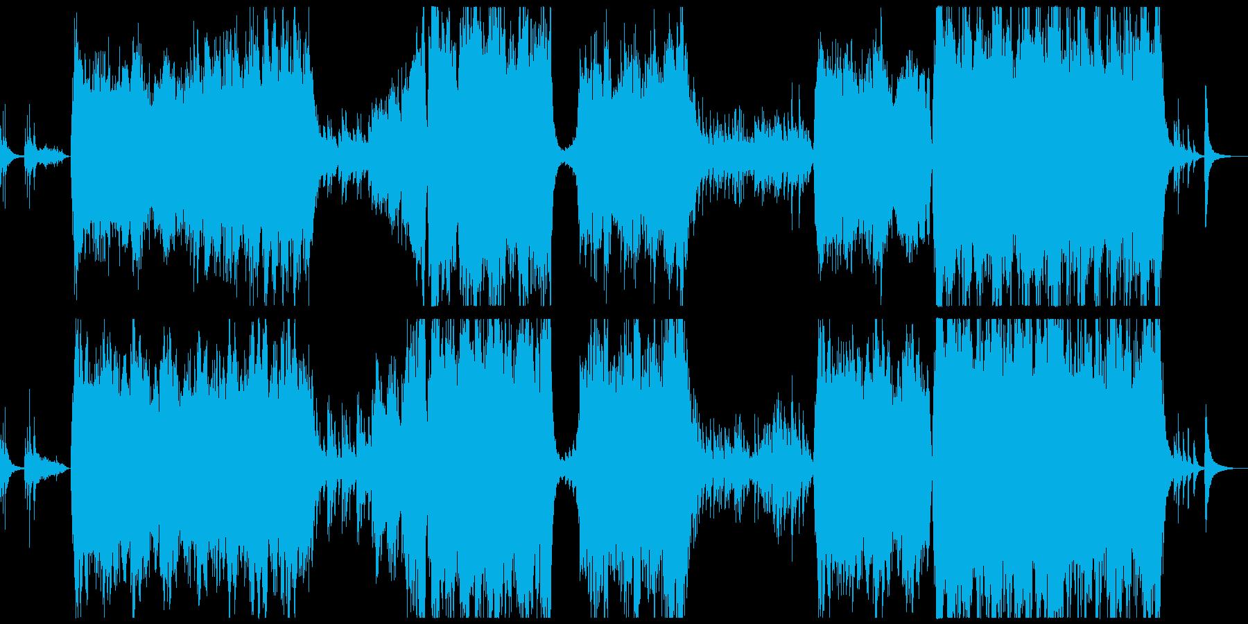 物語のような和風BGMの再生済みの波形