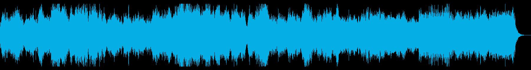 ダークファンタジー系 合唱とオーケストラの再生済みの波形