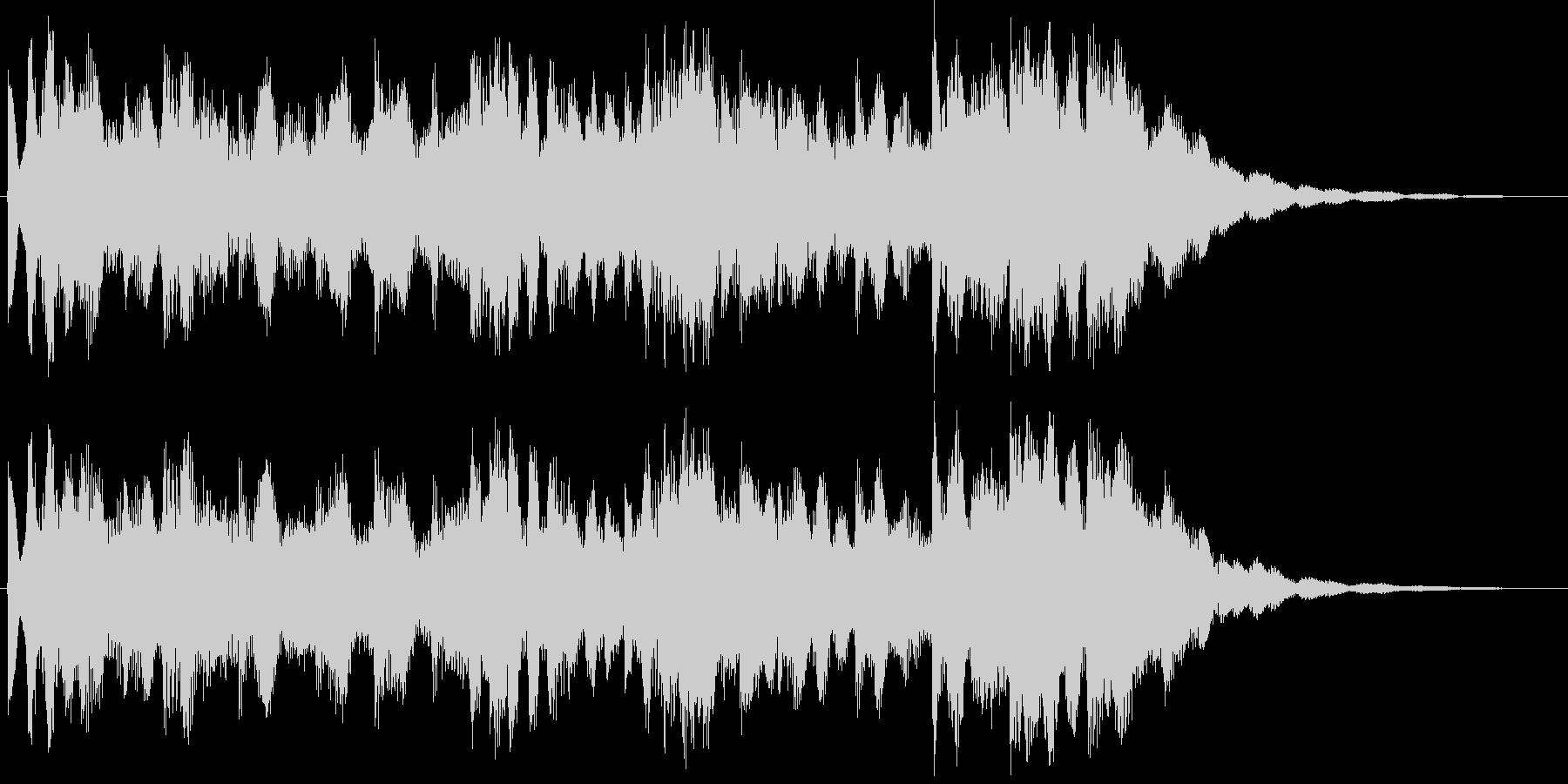 リズムカルなメロディジングルの未再生の波形