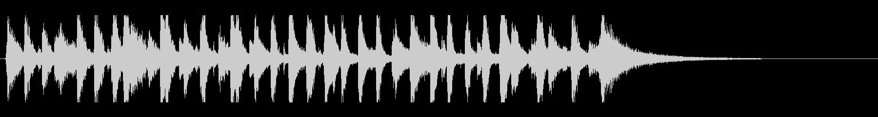 ピアノジングルオールドジャズスタイルの未再生の波形